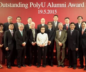 Dr. Edith Mok and Dr. David Ho at PolyU Outstanding Alumni Award 19/5/2015